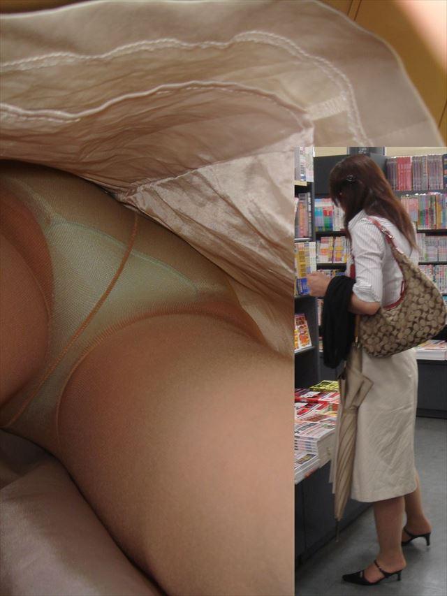 美人OLの黒スト逆さタイトスカート盗撮エロ画像10枚目