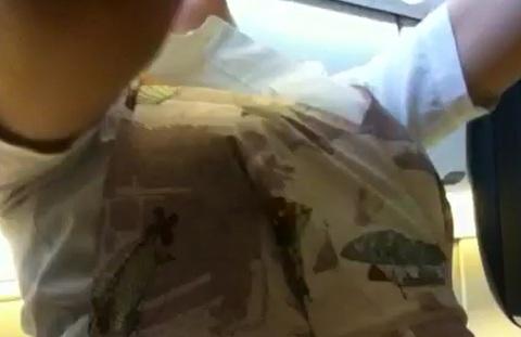 大胆な接客の外国人CAのお接待パンスト魅惑エロ画像16枚目
