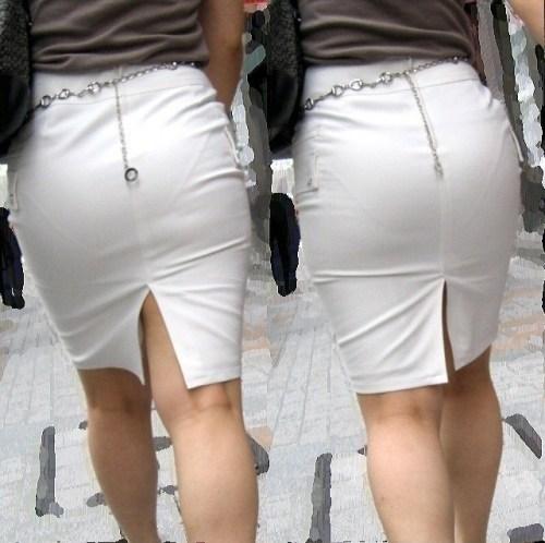 街で盗撮されたタイトスカートのOL達のエロ画像13枚目