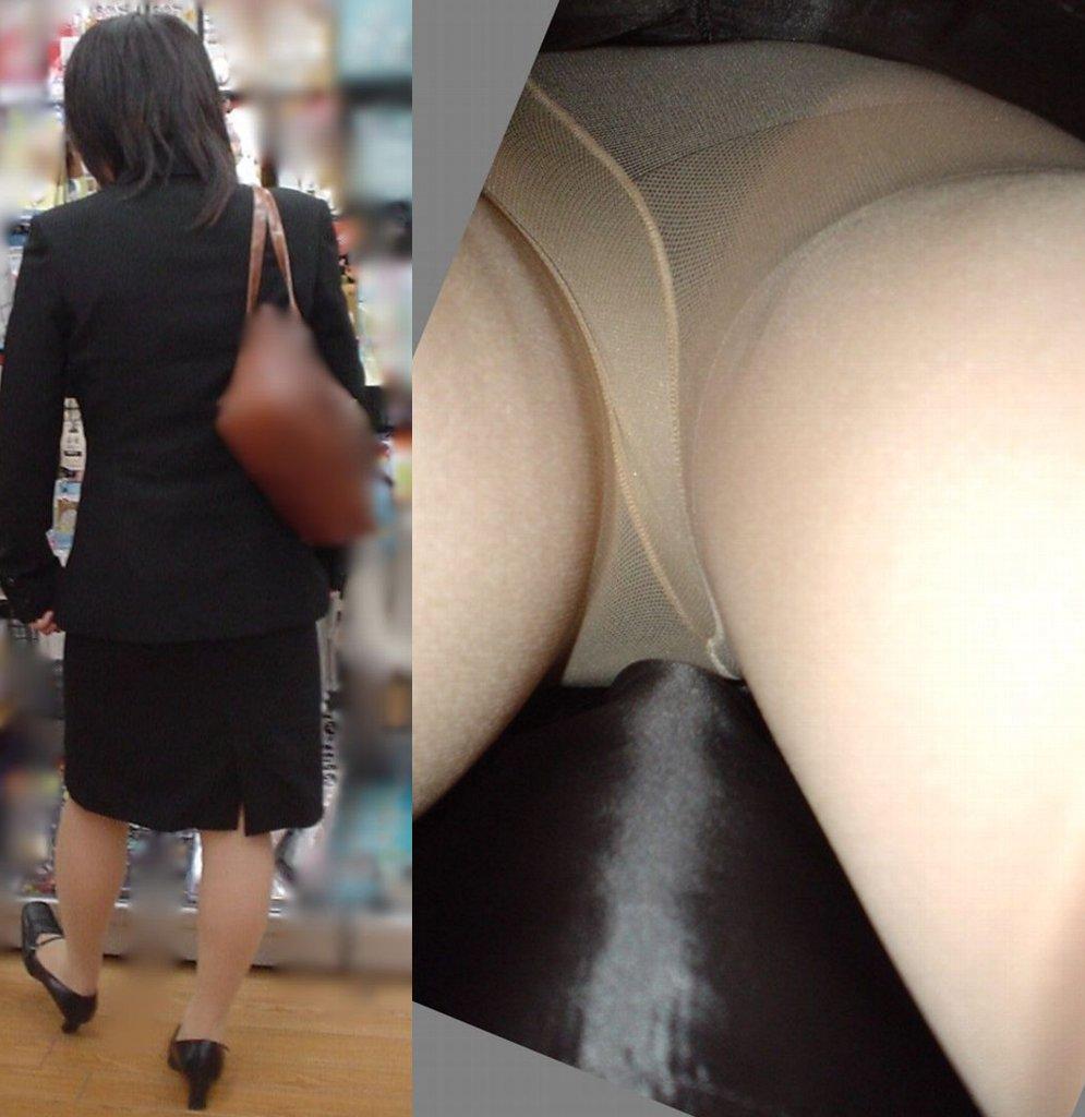 新卒OLの就活中の街撮り逆さタイトスカート盗撮エロ画像7枚目