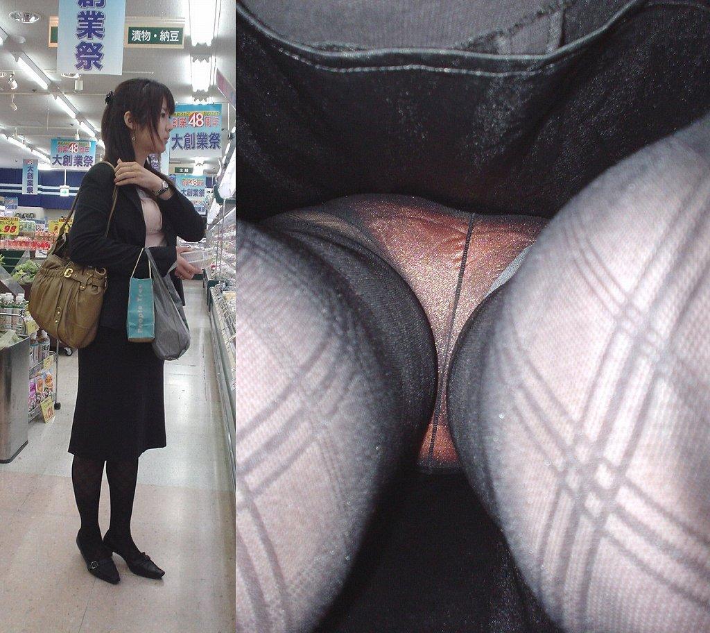 新卒OLの就活中の街撮り逆さタイトスカート盗撮エロ画像13枚目