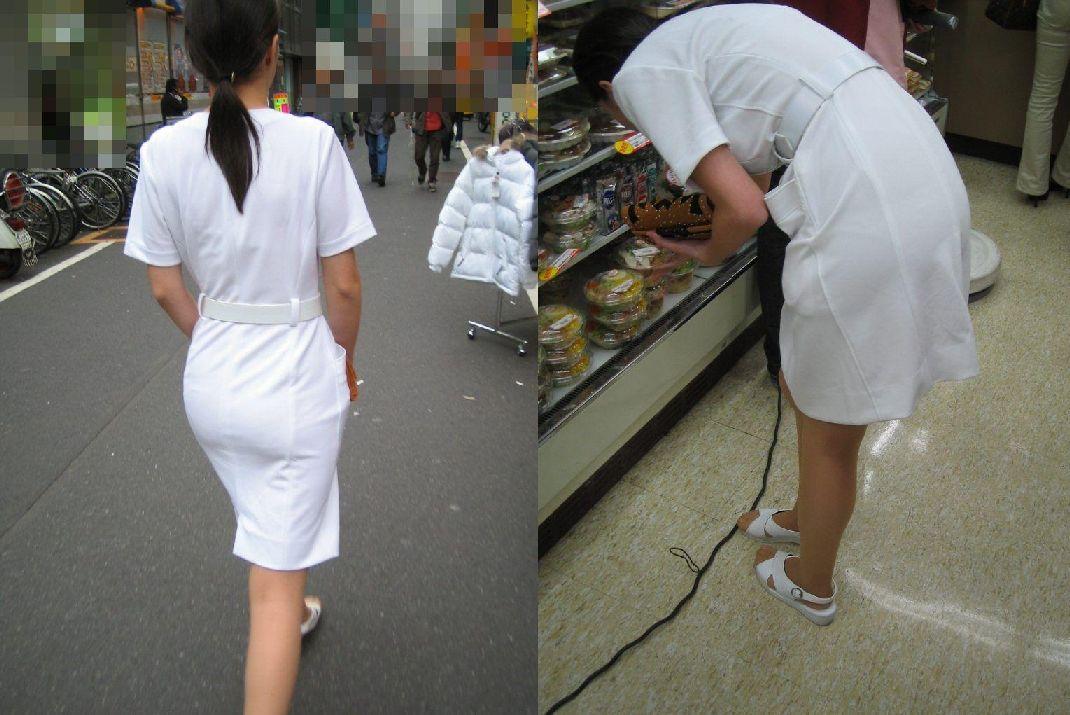 白衣ナースの薄っすらと透けているSEXY下着盗撮エロ画像8枚目