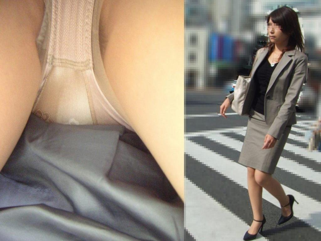 調子に乗ってるOLの逆さタイトスカート盗撮画像10枚目
