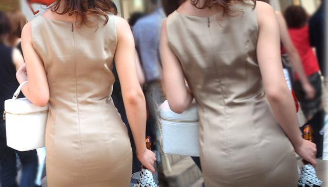 巨尻OLのタイトスカートのパンティライン盗撮エロ画像3枚目