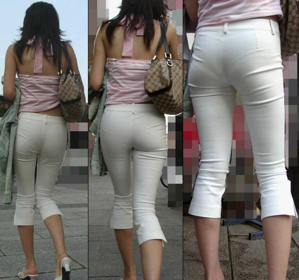 巨尻OLのタイトスカートのパンティライン盗撮エロ画像14枚目