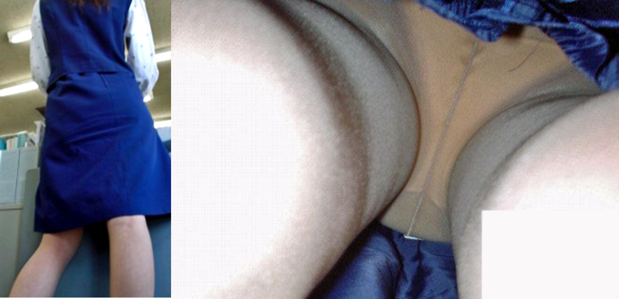 熟女OLの無防備でだらしないパンティのフェチ必見エロ画像9枚目