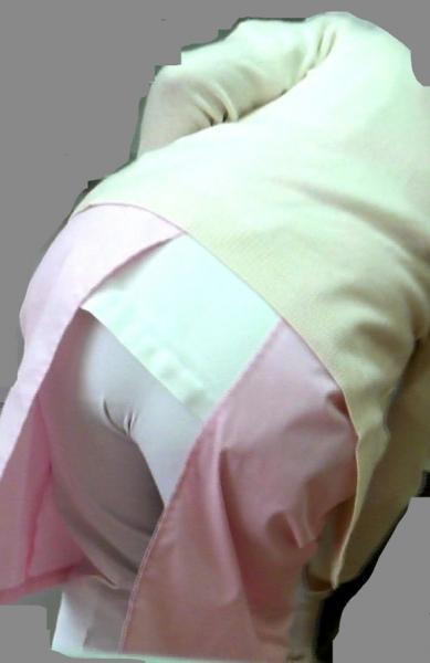 白衣ナースの搬入中に透けた下着のヒップライン盗撮エロ画像12枚目