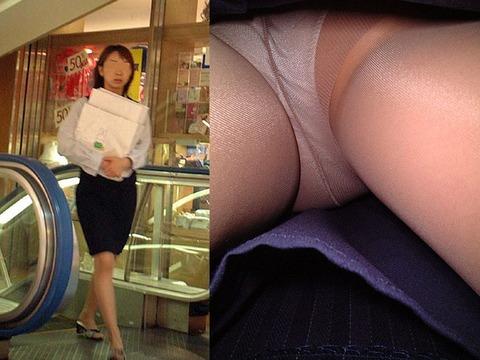 新人?就活?若いOLのタイトスカート逆さ盗撮画像14枚目