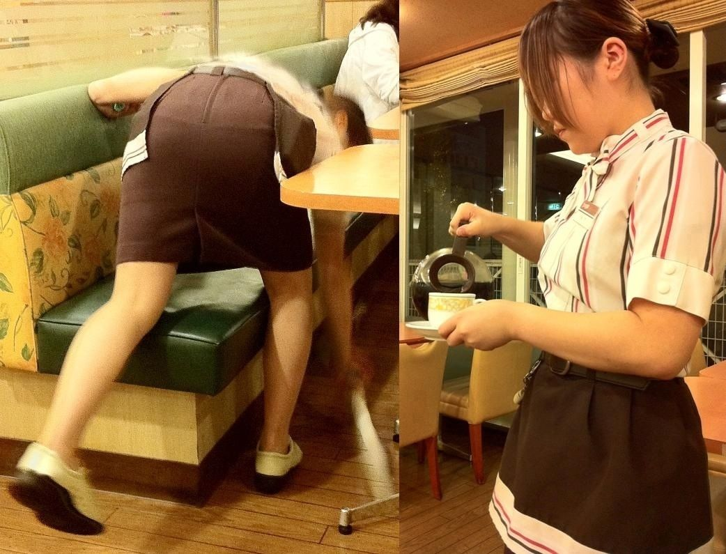 マクドナルドの店員さんタイトスカート盗撮エロ画像16枚目