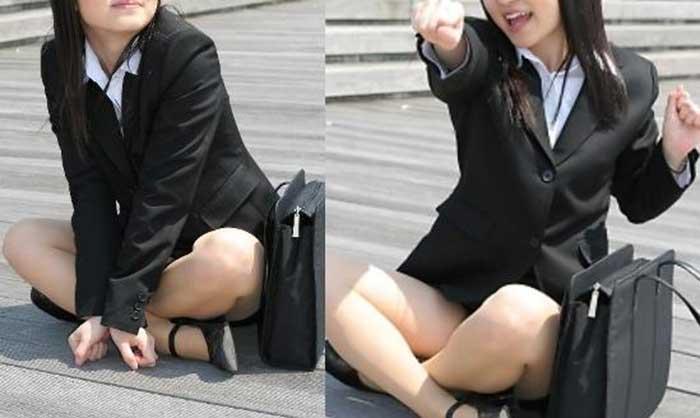 OL達の様々な表情のタイトスカート盗撮エロ画像7枚目