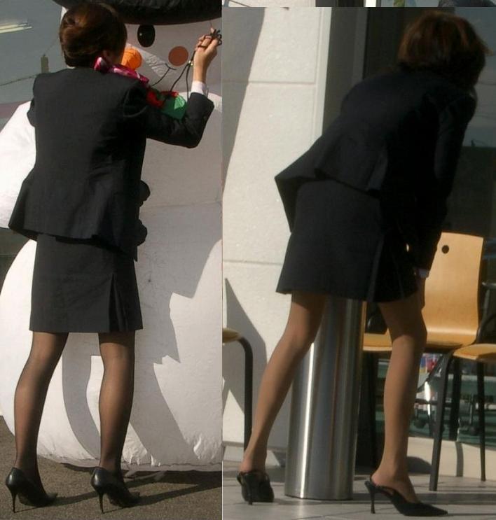 四六時中狙われているタイトスカート盗撮エロ画像15枚目