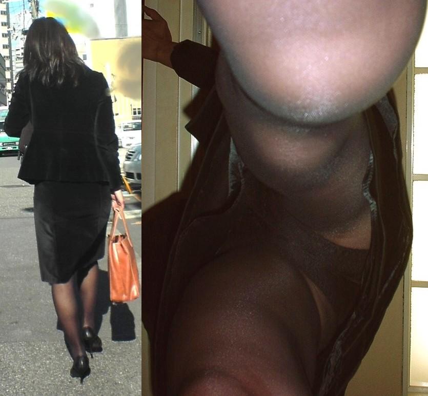 隙きが多すぎるOLの逆さタイトスカート盗撮画像9枚目