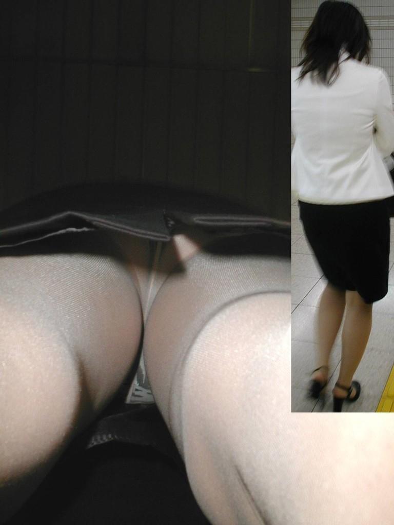 隙きが多すぎるOLの逆さタイトスカート盗撮画像16枚目