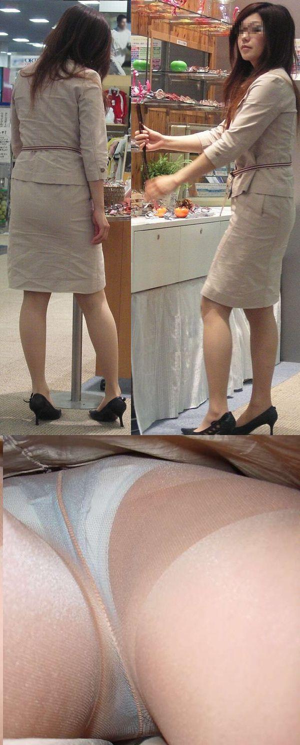 人妻OLが無防備を晒したタイトスカート三角エロ画像9枚目