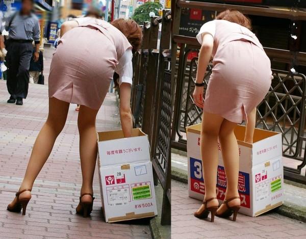 人妻OLが無防備を晒したタイトスカート三角エロ画像16枚目