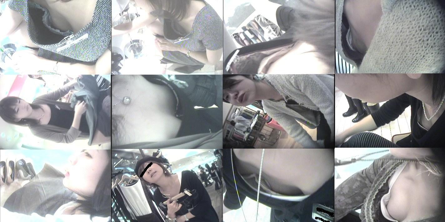 デパート店員OLさんのゆるゆるな胸チラ盗撮エロ画像9枚目