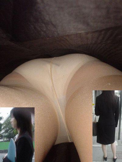 毎日盗撮されているタイトスカート逆さOLエロ画像4枚目