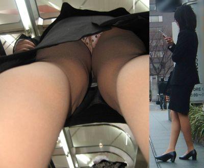 毎日盗撮されているタイトスカート逆さOLエロ画像10枚目